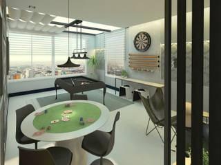 Sala de jogos:   por Letícia Saldanha Arquitetura