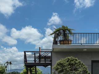 和風の 玄関&廊下&階段 の 夏沐森山設計整合 和風