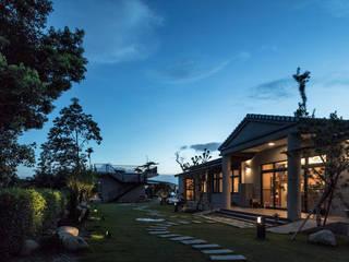 アジア風 庭 の 夏沐森山設計整合 和風