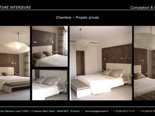 Chambres-Bedroom Chambre moderne par Architecture interieure Laure Toury Moderne