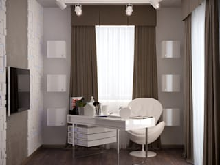 Espaços de trabalho minimalistas por Студия интерьерного дизайна happy.design Minimalista