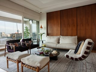 Modern living room by andrea carla dinelli arquitetura Modern