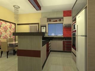 Cozinha + Sala de Jantar por Makiza Arquitetura e Engenharia Moderno