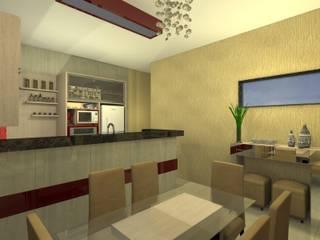 Cozinha + Sala de Jantar Salas de jantar modernas por Makiza Arquitetura e Engenharia Moderno