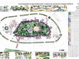 Plan Maestro de Recuperación y Puesta en Valor del Parque México:  de estilo  por Arketzali Taller de Arquitectura
