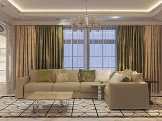 Коттедж в стиле арт деко Гостиная в классическом стиле от Студия дизайна интерьера в Симферополе M-projection Классический