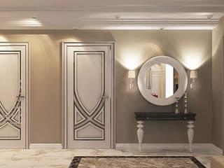 Коттедж в стиле арт деко Коридор, прихожая и лестница в классическом стиле от Студия дизайна интерьера в Симферополе M-projection Классический