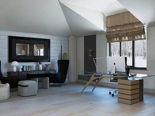 Таун хаус в современном стиле Гостиная в стиле минимализм от Студия дизайна интерьера в Симферополе M-projection Минимализм