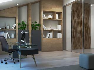 Таун хаус в современном стиле Рабочий кабинет в стиле минимализм от Студия дизайна интерьера в Симферополе M-projection Минимализм