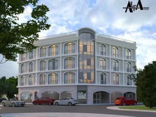 Locaux commerciaux & Magasin modernes par alfa mimarlık Moderne