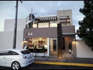 Casa en colonia de CSL: Casas multifamiliares de estilo  por A+D Arquitectura