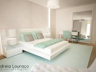 """Projecto de Decoração """"Like Green"""": Quartos  por Andreia Louraço - Designer de Interiores (Contacto: atelier.andreialouraco@gmail.com)"""