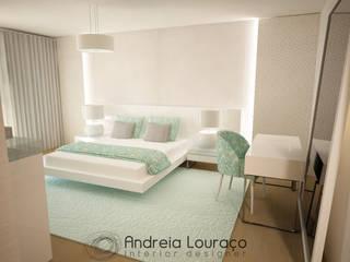 Andreia Louraço - Designer de Interiores (Email: andreialouraco@gmail.com) Cuartos de estilo moderno Verde