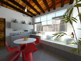 Mini appartamento in stile mediterraneo: Cucina in stile  di IDlab , Mediterraneo