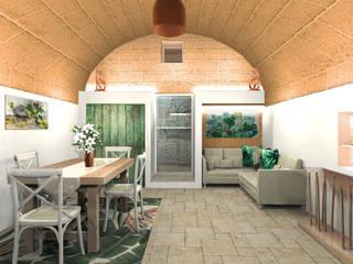 Vivere in un trullo!: Sala da pranzo in stile  di IDlab , Tropicale
