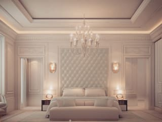Bedroom Design in Dramatic Contrast IONS DESIGN 臥室 大理石 Green