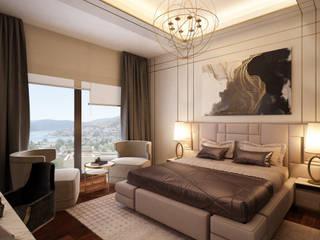 DECOFEMME İÇMİMARLIK ve BUTİK DAVET TASARIMI – VİLLA: modern tarz Yatak Odası