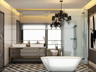 DECOFEMME İÇMİMARLIK ve BUTİK DAVET TASARIMI – VİLLA: modern tarz Banyo