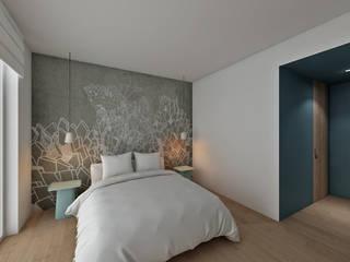 CASA CA: Camera da letto in stile  di dga architetti