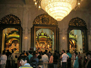 Gold Leafing (Gilding) Work done for ISKCON Temple Juhu Mumbai India:   by TGLS / Shehzad Khan,