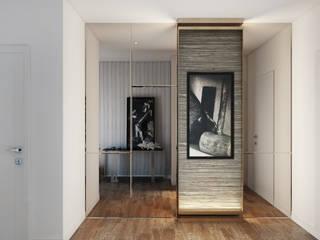 Modern corridor, hallway & stairs by DZINE & CO, Arquitectura e Design de Interiores Modern