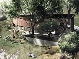 Parque Educativo Tamesis Casas modernas de ARQUITECTOS URBANISTAS A+U Moderno