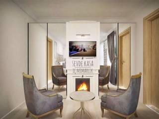 SEVDE KASA İÇ MİMARLIK – Dobruca Villaları Yatak Odası:  tarz Oteller