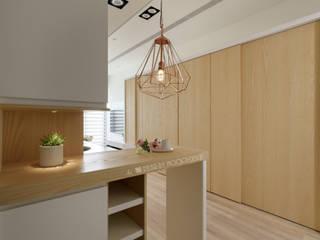 台南_住宅空間_德和大邁 斯堪的納維亞風格的走廊,走廊和樓梯 根據 Moooi Design 驀翊設計 北歐風