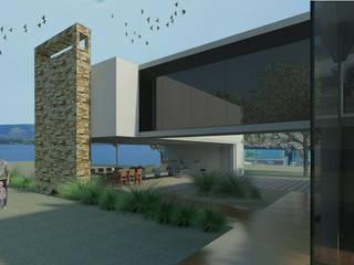 VIVIENDA MARTINEZ-BARBERA Casas modernas: Ideas, imágenes y decoración de Goldbrick arquitectura Moderno