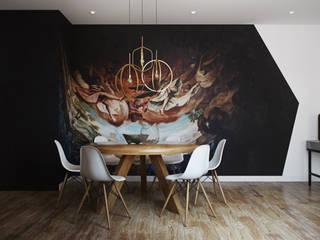 Salas de jantar modernas por DZINE & CO, Arquitectura e Design de Interiores Moderno