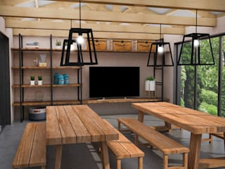 Rustic style dining room by JACH Rustic