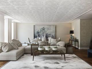 Rua do Alecrim - Lisbon: Salas de estar  por DZINE & CO, Arquitectura e Design de Interiores,Eclético