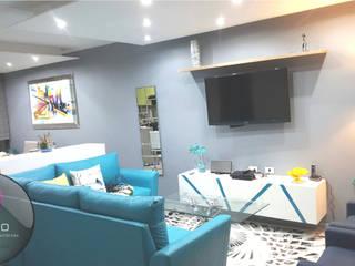 Zoi Residencial Zapopan: Salas de estilo  por Spazio Diseño de Interiores & Arquitectura