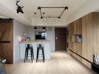 Industrial style dining room by E&K宜客設計 Industrial