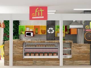 Restaurante Saudável Espaços gastronômicos modernos por Nuovo Design de Interiores Moderno