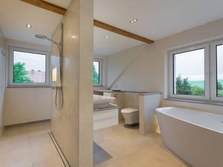 Klotz Badmanufaktur GmbH Modern bathroom Tiles Beige