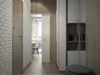 Tatiana Sukhova Modern corridor, hallway & stairs