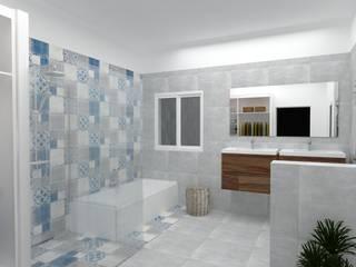 reforma interior baño-vestidor: Baños de estilo  de Amparo Ruiz Arquitecto