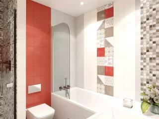 Дизайн- проект в ЖК Богатырь-2: Ванные комнаты в . Автор – ИнтекСтрой