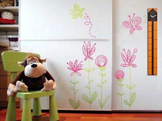 Kid's Room Wall Styling: modern  by Just For Clocks,Modern