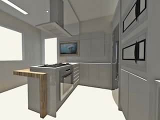 Kitchen units by MEI Arquitetura,