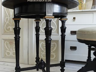 Antike Beistelltische Maisondora Vintage Living WohnzimmerCouch- und Beistelltische Holz Schwarz
