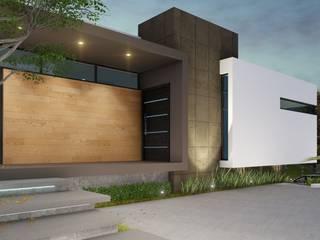 Acceso Principal: Casas unifamiliares de estilo  por CONSTRUYE IDEAS