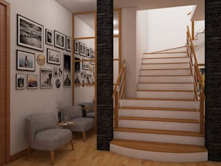 Classic style corridor, hallway and stairs by Spacio5 Classic
