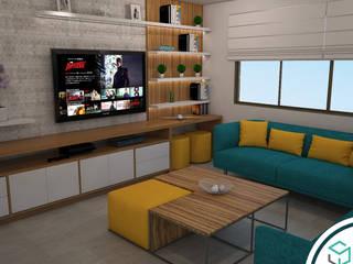 Sala de estar en terraza : Terrazas de estilo  por Spacio5
