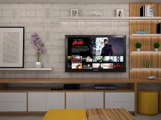 Sala de estar en terraza : Salas de entretenimiento de estilo  por Spacio5