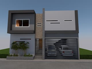 IPC.17.007 Casa Marte R Gómez: Casas unifamiliares de estilo  por Ilustra Proyecta
