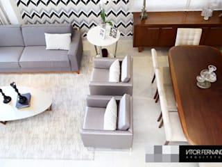VR6 HOUSE - Interior Design: Salas de estar  por VITOR FERNANDO Architecture