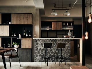Industrial style dining room by 羽筑空間設計 Industrial