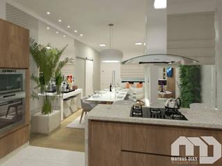 Sala |Residência RT| por Mateus Dias Arquitetura Moderno